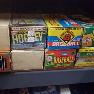 Complete Sets And Mixed Baseball Hockey And Basketball Cards $5 Mixed Boxes. $10 To $15 For The Sets for Sale in Shorewood, IL