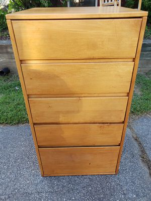 Solid wood 5 drawer dresser for Sale in Providence, RI