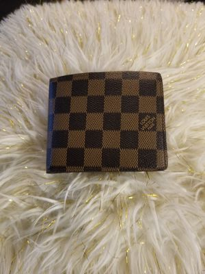 Brown checkerboard wallet for Sale in Norcross, GA