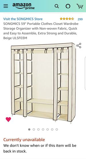 Closet/Organizer for Sale in Rutherford, NJ