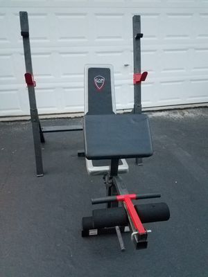 Weight Bench And Squat Rack Leg Extension Preacher Curl for Sale in Naperville, IL