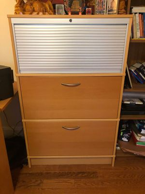 Wooden filing cabinet for Sale in Clarksburg, MD