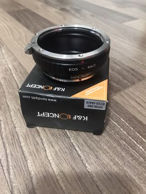 NEW K&F Concept Lens Mount Adapter for Canon EOS EF Mount Lens to M4/3 MFT Olympus Pen and Panasonic Lumix Cameras $25 OBO for Sale in Rosemead, CA