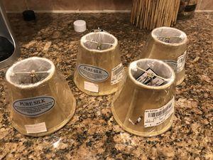 Silk Chandelier Shades - gold/dark beige for Sale in Chantilly, VA