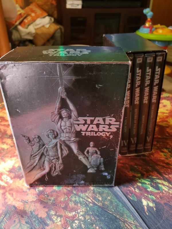 4 peice Star Wars set DVD