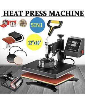 5 in 1 Heat press machine swing away digital sublimation Tshirt mug plate for Sale in Katy, TX