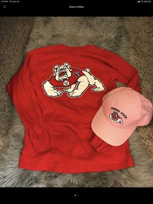Fresno state bulldogs red long sleeve tee w/pink hat for Sale in Bothell, WA