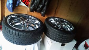 Helo 20 inch rims and tires for Sale in Norridge, IL
