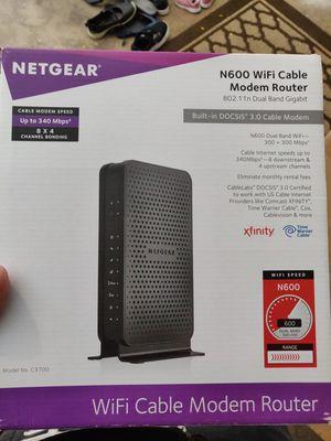 Netgear n600 wifi modem router for Sale in Des Plaines, IL