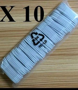Lot of 10 X USB Data Sync Charger Charging Cable Cord for iPhone x5 6 7 8 x Plus for Sale in Chicago, IL