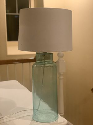 Turquoise Lamp with white shade for Sale in Rancho Cucamonga, CA