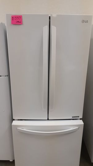 LG refrigerator 3 doors used as new for Sale in Haines City, FL