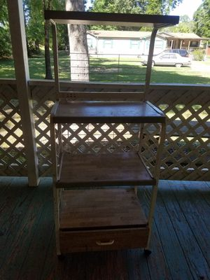 Micro wave cart with storage drawer for Sale in Cleveland, TX