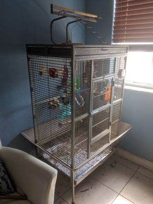 Large Parrot Cage with Play top for Sale in Hialeah, FL