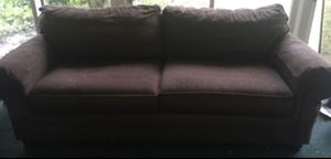 Bassett brand Brown fabric large comfy couch for Sale in Butler, PA