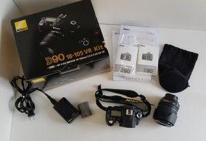 Nikon D90 DSLR 18-105 VR Kit-MINT Condition-very low shutter count for Sale in Nashville, TN