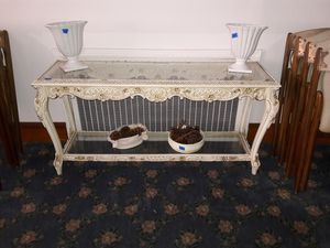 Antique glass top console table for Sale in Elizabeth, NJ