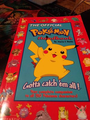The official Pokemon Handbook. I've seen the values-make an offer. I don't collect books or Pokemon. Plz ask question for Sale in Mesa, AZ
