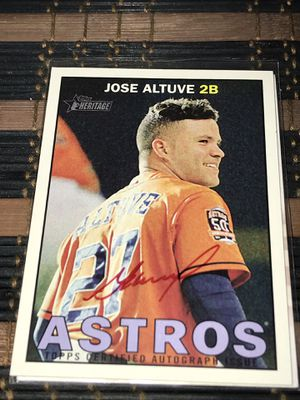 Jose Altuve Autograph Card for Sale in Angleton, TX