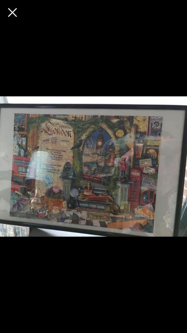London puzzle frame