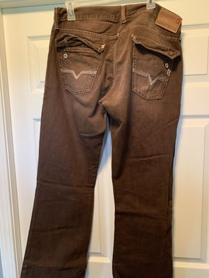 Guess rare brown jeans size 34 for Sale in Cadwell, GA