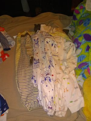 Baby boy clothes 187 items 0-3 3-6 and up, swing, pack and play, baby bath for Sale in Kent, WA