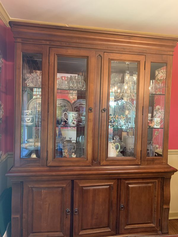 Dining table, China cabinet, buffet table for Sale in ...