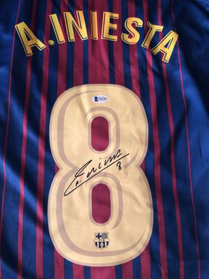 Andres Iniesta Signed Jersey for Sale in Covington, WA