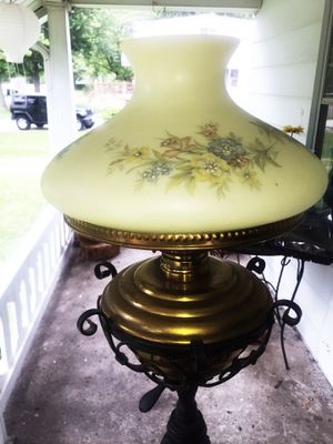 Porcelain and iron Antique lamp for Sale in Redford Charter Township, MI