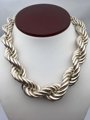 Vintage sterling silver 925 Italy ROPE Chain Necklace for Sale in The Bronx, NY