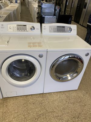 lg front load washr and dryr set good working with warranty for Sale in Woodbridge, VA