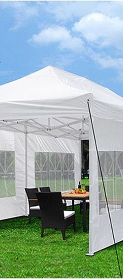 $210 New In Box Large Heavy-Duty 10x20ft Canopy Pop Up Tent With Side Walls Instant Shade Carry Bag Rope Stake for Sale in East Los Angeles,  CA