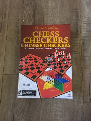 Board Games 3in1 Chess, Checkers, and Chinese Checkers for Sale in Los Angeles, CA