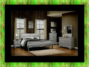 11pc Grey Marley bedroom set with mattress for Sale in Takoma Park, MD