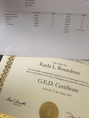 Ged & Transcript for Sale in Detroit, MI