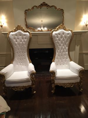 King queen throne chair events party antique for Sale, used for sale  Ridgefield, NJ