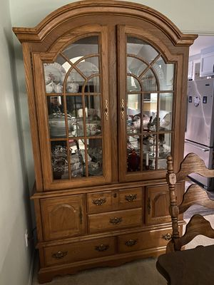 China cabinet armoire hutch antique *excellent* for Sale in Wilsonville, OR