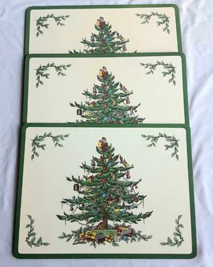 Christmas Holiday Placemats- 3 for Sale in Bakersfield, CA