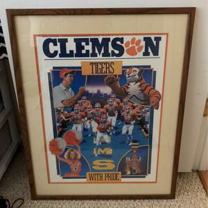 "Clemson Tigers 24.5x30.5"" Framed Poster for Sale in Chesapeake, VA"