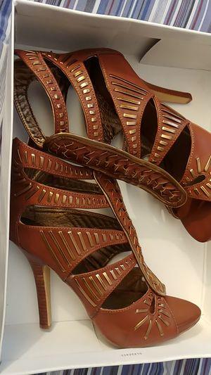 Brand New Baker Tan Size 7.5 Heeled Sandal for Sale in Accokeek, MD