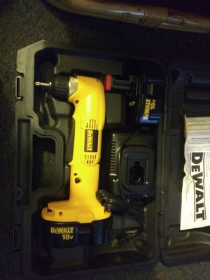 New Dewalt 18 volt right angle drill two new batteries and charger asking 120 dollars price is firm for Sale in Oak Park, IL