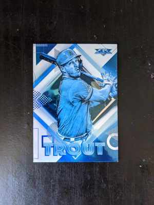 2020 Topps fire Mike Trout blue foil super rare! for Sale in Torrance, CA