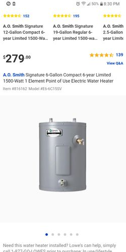 30 gallon water heater for Sale in Rocky Mount,  NC
