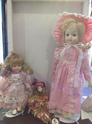 Bundle of 3 Vintage Porcelain Dolls (PDB4) for Sale in West Dundee, IL
