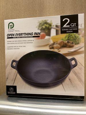 NEW PACIFIC COAST TRAIL 2qt. CAST IRON PAN for Sale in Stockton, CA