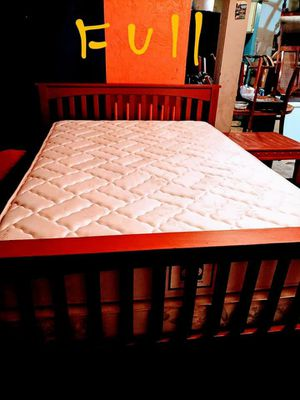 Full bed frame with mattress for Sale in Stockton, CA