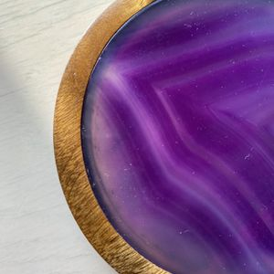 Agate Crystal Coaster Set for Sale in Muttontown, NY