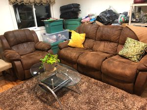 Recliner chair And sofa Brown color for Sale in Rancho Cucamonga, CA