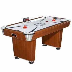Hathaway Midtown 6' Air Hockey Family Game Table with Electronic Scoring, High-Powered Blower, Cherry Wood-Tone, Strikers and Pucks 21ab for Sale in Norcross, GA