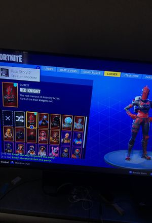 Red knight Fortnite account 25+ skins for Sale in Boston, MA